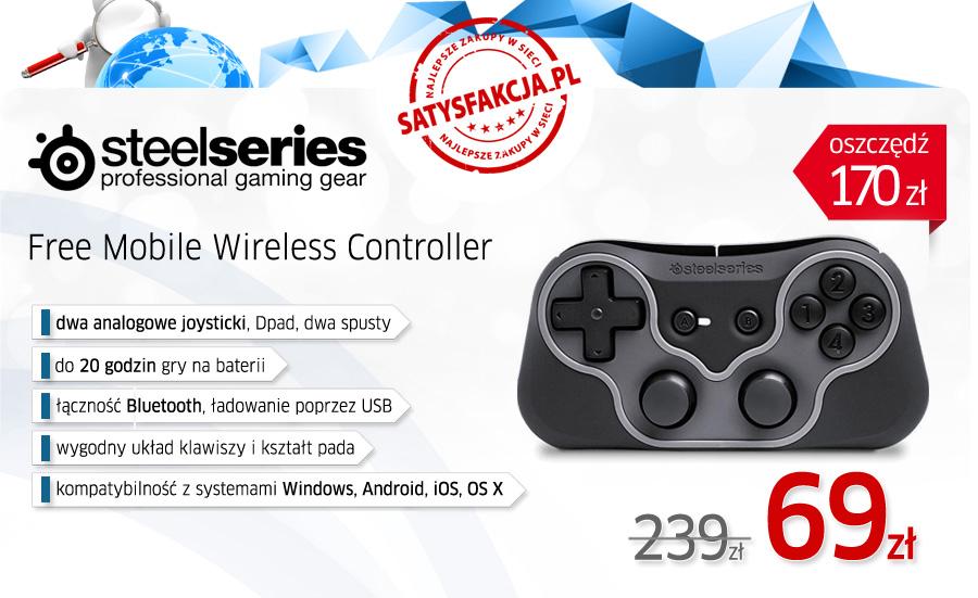 SteelSeries Free Mobile Gamepad za 49zł @Satysfakcja.pl