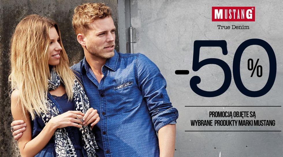 Rabat 50% na wybrane produkty Mustang (t-shirty męskie od 24zł, bermudy męskie od 74zł) @ Jeans24h