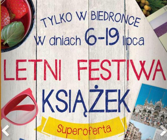Letni festiwal książek i tytuły w cenie 9,99zł @ Biedronka