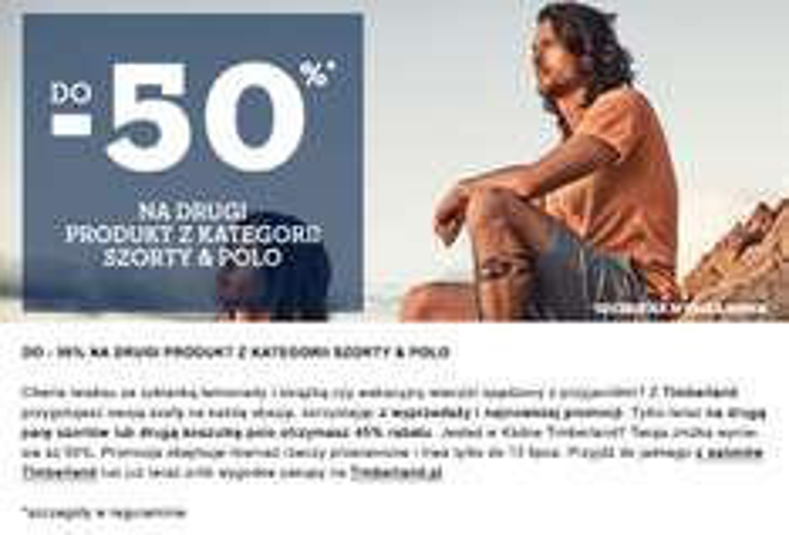 -50% na drugi produkt (także z wyprzedaży) @ Timberland