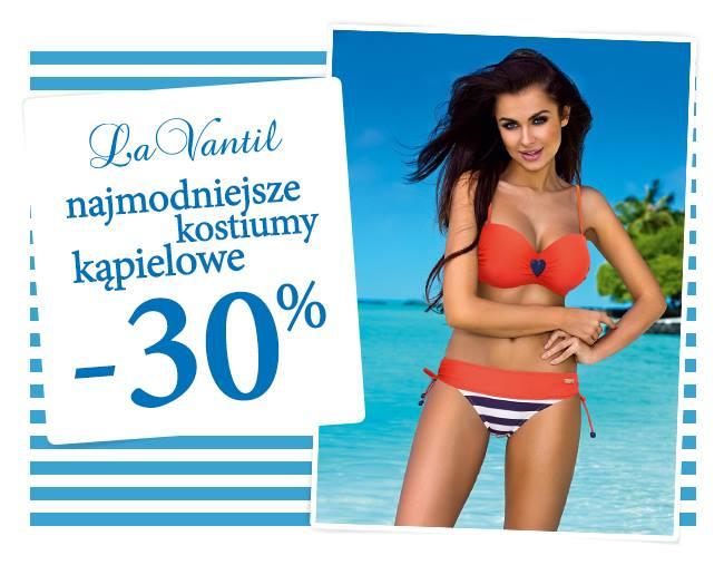 30% rabatu na kostiumy kąpielowe @ La Vantil