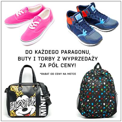 DODATKOWE 50% rabatu na torby i buty do dowolnych zakupów @ Cropp