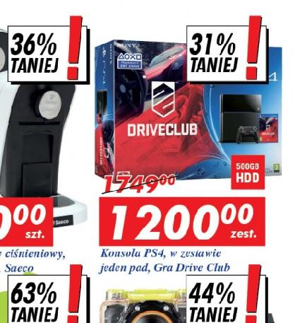 PS4 w zestawie z Driveclub za 1200 @Auchan