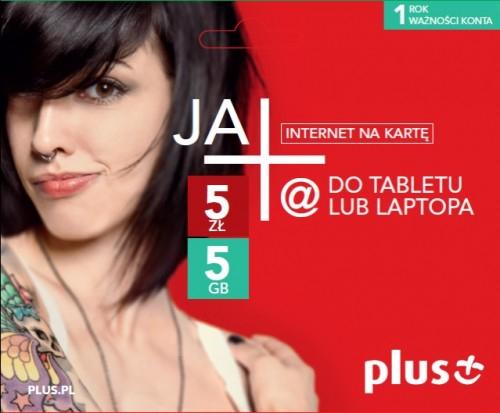 Plus rozdaje bezpłatny starter JA+ Internet Na Kartę