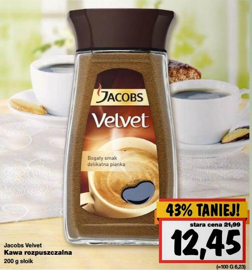 Kawa rozpuszczalna Jacobs Velvet 200g za 12,45zł @ Kaufland