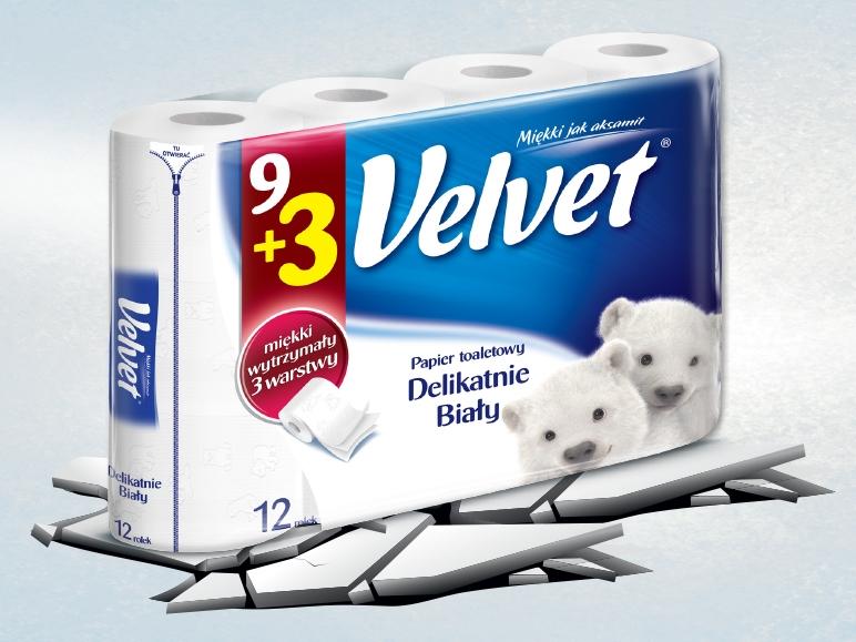 Papier toaletowy Velvet 12 rolek za 7zł @ Lidl