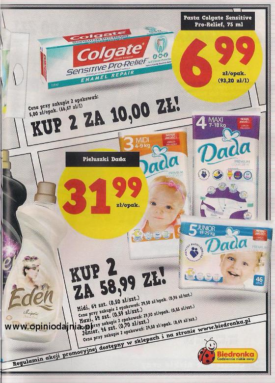 Pieluchy Dada  2 opakowania w cenie 58,99 zl.