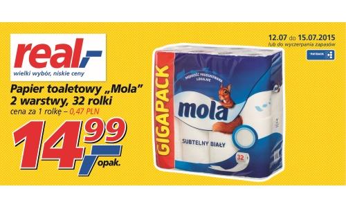 32 rolki papieru toaletowego Mola Classic za 14,99zł @ Real