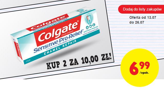 2 tubki pasty do zębów Colgate Sensitive Pro-Relief za 10zł! @ Biedronka