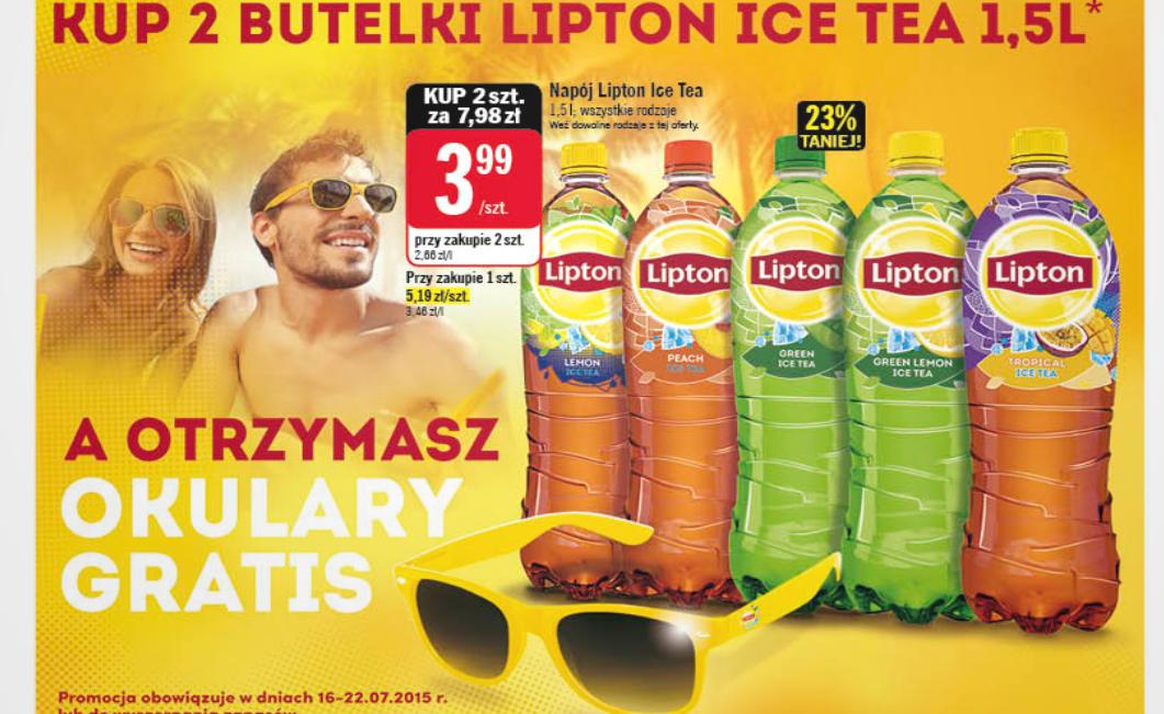Okulary Lipton przy zakupie 3L Ice Tea @ Stokrotka