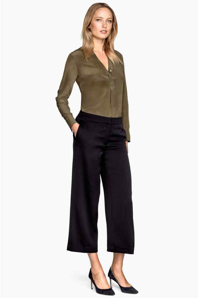 Szerokie spodnie damskie (-93%) @H&M