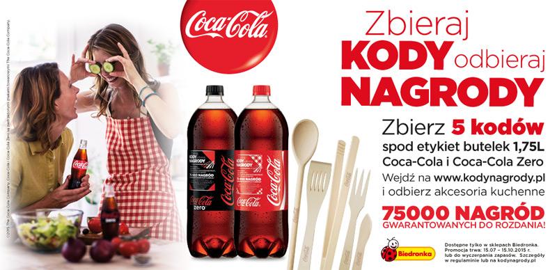 Wymieniaj kody spod etykiet na nagrody @ Coca-Cola/Biedronka