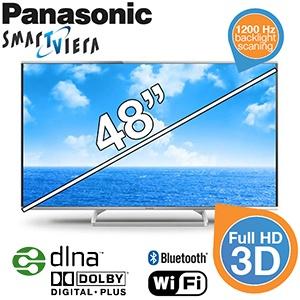 TYLKO DZISIAJ do północy, telewizor LED Panasonic Viera Smart TV (TX-48AS640E) 48' FULL HD oraz 3D za 2419,90zł @ iBood