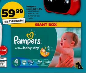 Pieluszki Pampers Giant Box za 59,99zł @ Netto