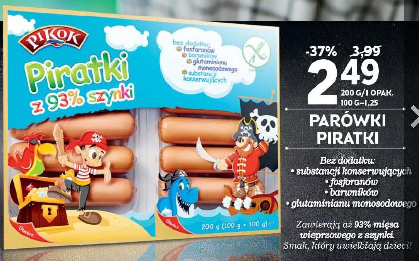 """Parówki """"Piratki"""" Pikok w cenie 2,49zł (taniej o 1,50zł) @ Lidl"""