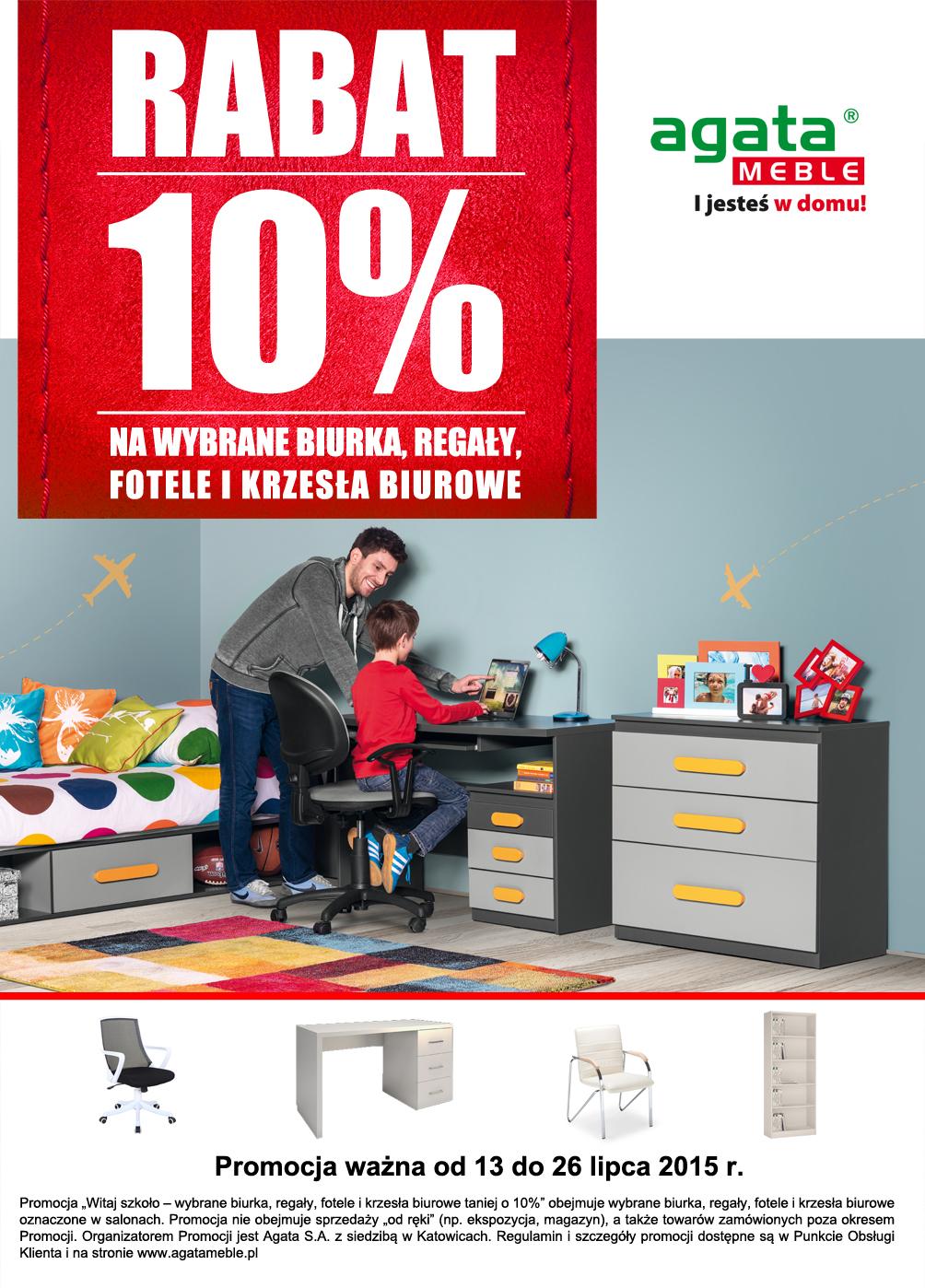 -10% na biurka, regały, fotele i krzesła @ Agata Meble