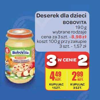Deserek dla dzieci Bobovita 190g, 3 w cenie 2 @ Carrefour