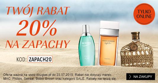 20% zniżki na zapachy + GRATISY do zakupów @ Douglas