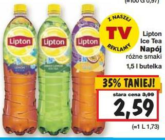 Napój Ice Tea Lipton w cenie 2,59zł/1,5L @ Kaufland