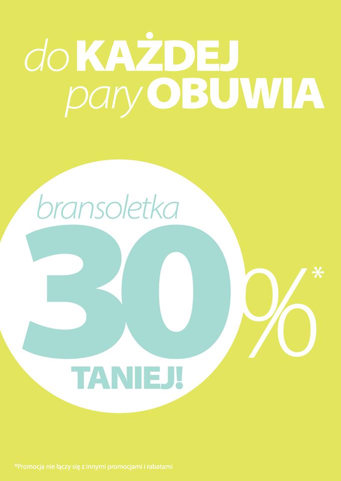 Przy zakupie butów rabat -30% na bransoletkę @ Wojas