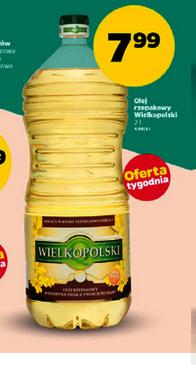 Olej rzepakowy Wielkopolski 2L w cenie 7,99zł @ Netto