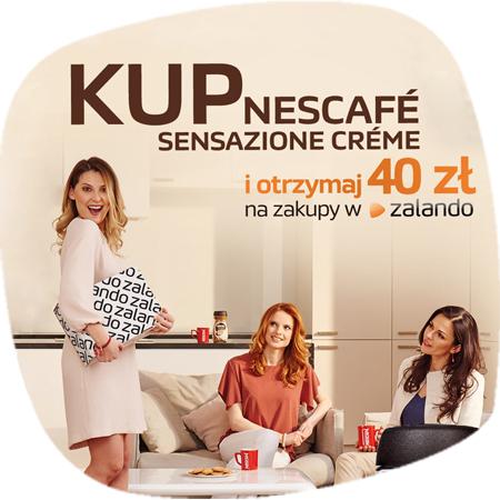 40zł na zakupy w Zalando przy zakupie kawy Nescafe