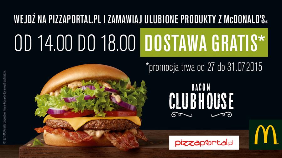 Darmowa dostawa z McDonald's (W-wa) @ Pizza Portal
