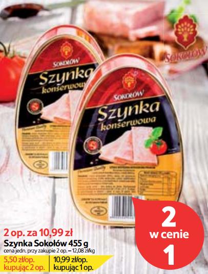 Sokołów - Szynka konserwowa za 5,50zł @TESCO