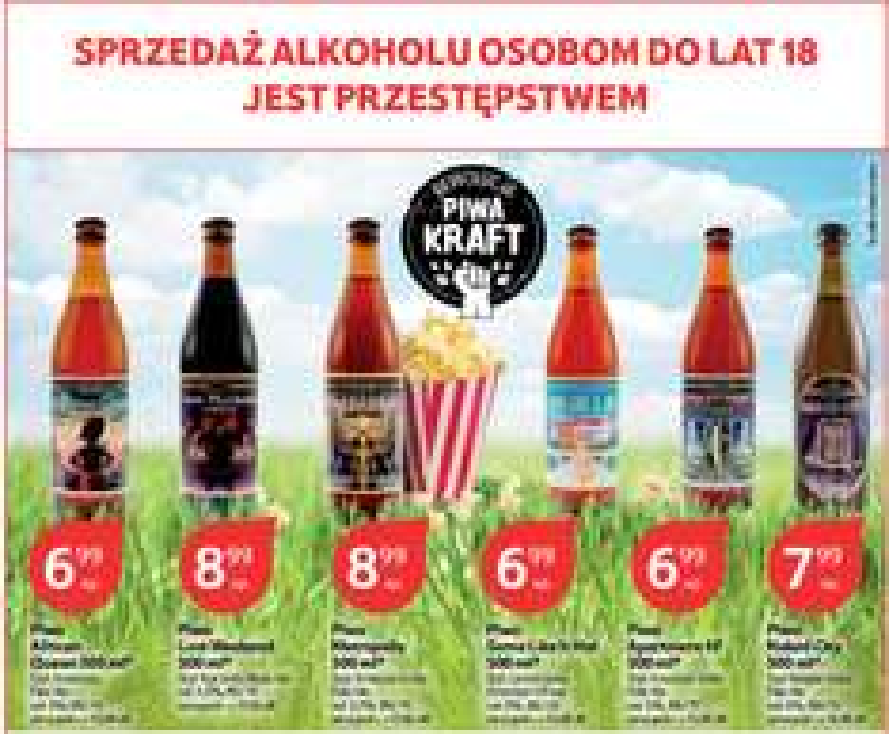Piwa KRAFT 7-9zł @TESCO