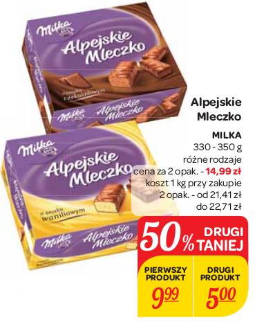 milka - Alpejskie Mleczko za 7,50zł @Carrefour