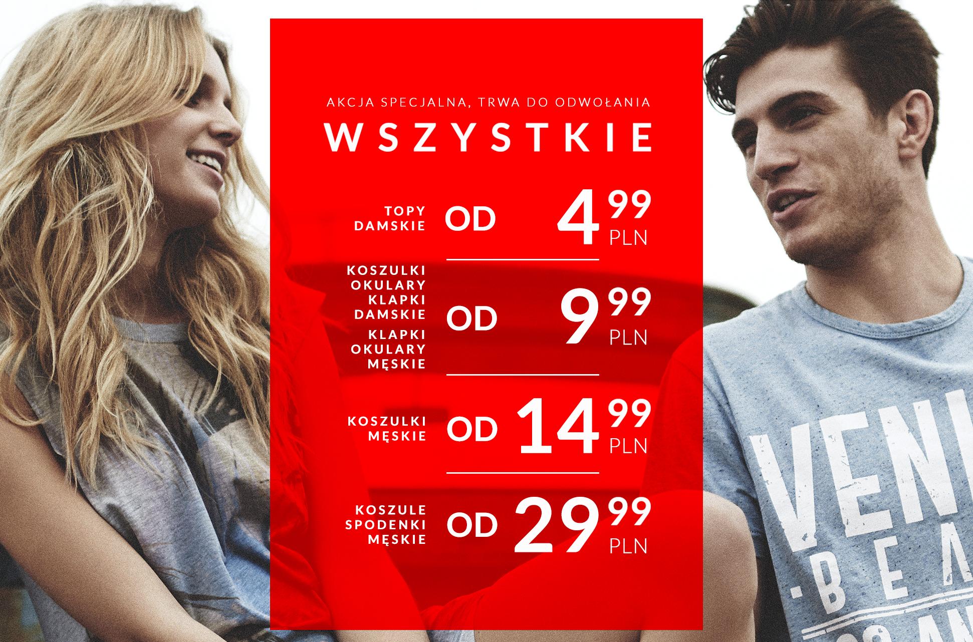 Topy od 4,99zł, koszulki męskie od 14,99zł i wiele innych produktów w wyjątkowo niskich cenach @ Diverse