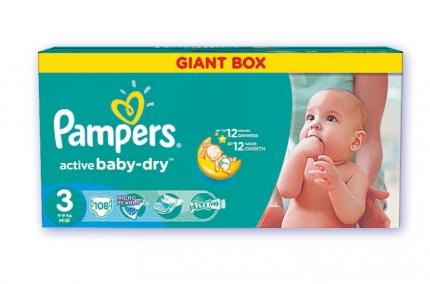 Pieluszki Pampers Giant Box za 62,99zł @ Selgros