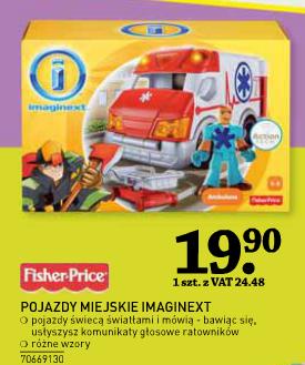 Pojazdy miejskie Imaginext od Fisher Price w cenie 24,48zł @ Selgros