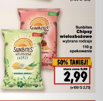 Chipsy wielozbożowe Sunbites w cenie 2,99 za 110g @ Kaufland