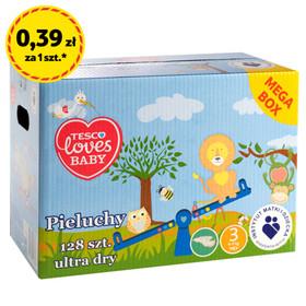 Pieluchy Tesco Loves Baby Mega Box za 49,99zł @ Tesco