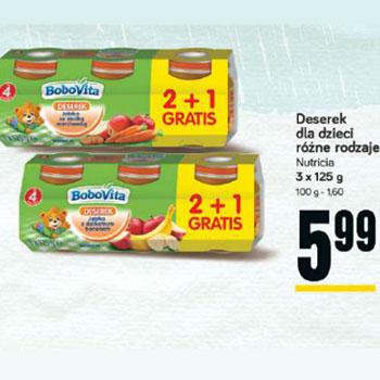 Obiadki i deserki dla dzieci Bobovita 2+1 GRATIS, różne rodzaje @ POLOmarket