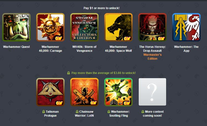 Humble Games Workshop Mobile Bundle - zestaw gier od 3,85zł