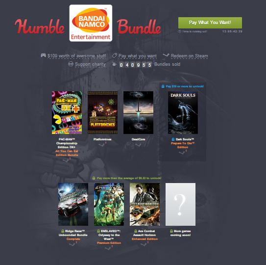 Zestaw gier Namco Bandai (Pac-Man, Dark Souls, Enslaved i inne) od 3,85zł @ Humble Bundle