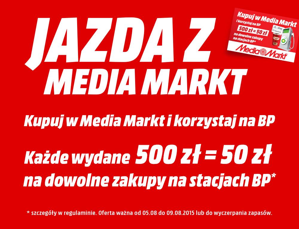 50zł do wydania na stacjach BP za każde wydane 500zł @ Media Markt