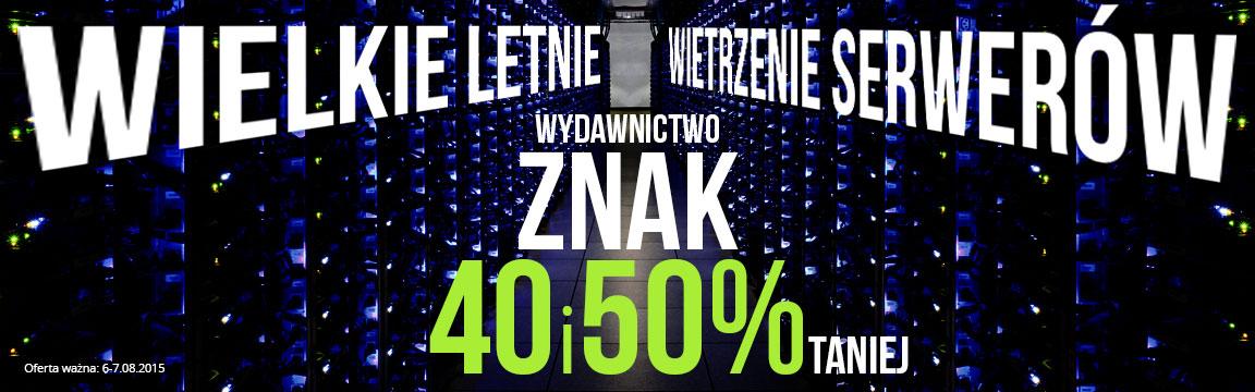 40% i 50% rabatu na wszystkie książki (ebooki) wydawnictwa Znak @ Woblink