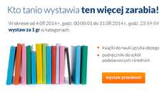 Wystawienie aukcji za 1 grosz @ allegro.pl