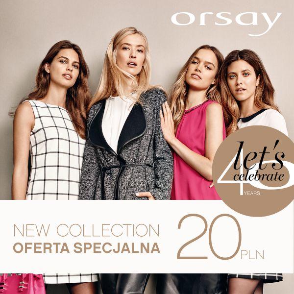 Bon o wartości 20zł do wydania na nową kolekcję @ Orsay