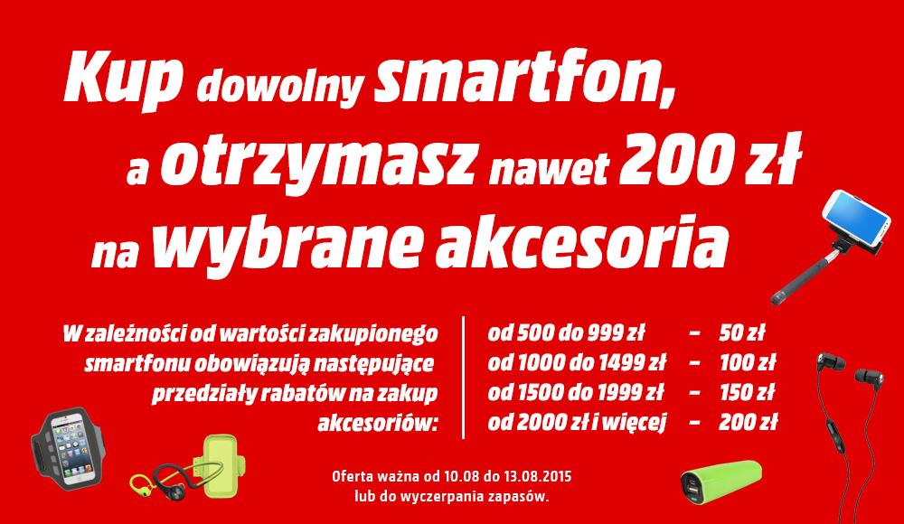 Do 200zł na akcesoria przy zakupie smartfonu @ Media Markt