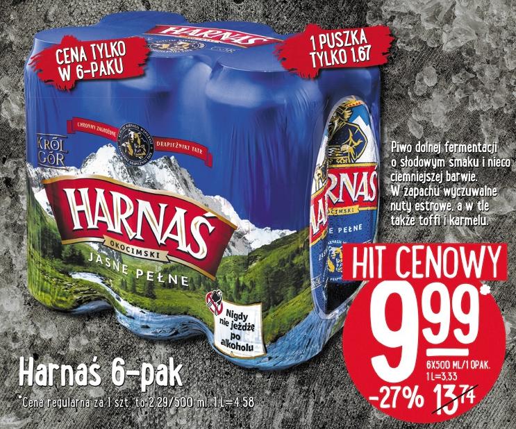 6-pak piwa Harnaś za 9,99zł (1,67zł za puszkę!) @ Lidl