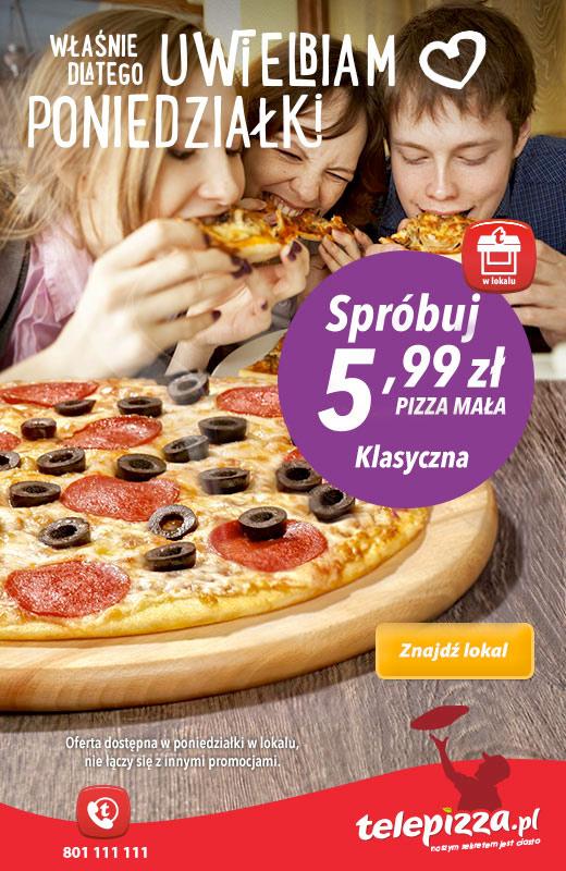 Klasyczna mała pizza za 5,99zł @ Telepizza