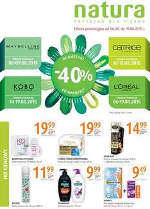 -40% na wybrane marki @ Natura