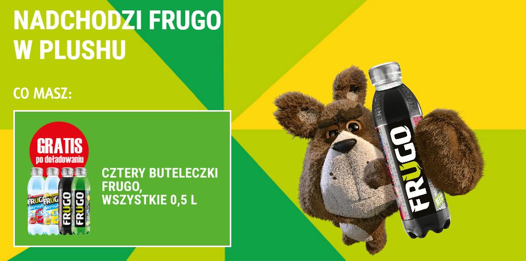 4 butelki FRUGO przy zakupie doładowania za minimum 30zł @ Plus