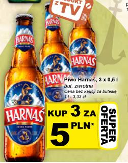 3 piwa Harnaś za 5,00zł (1,67zł za butelkę!) @ Żabka