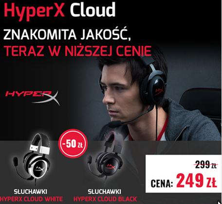 Słuchawki Kingston Hyper X Cloud 1 za 249zł (-50zł) plus free wysyłka :)
