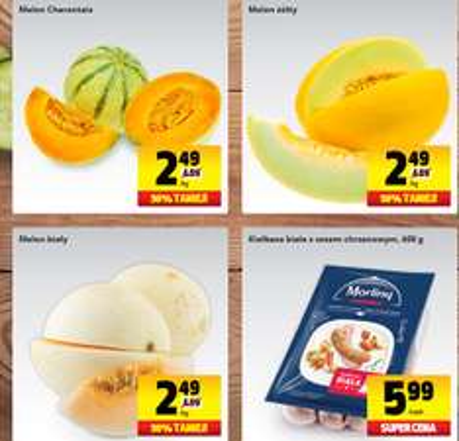 Melony 50% (cena 2,49zł/kg), 3 rodzaje! @ Biedronka